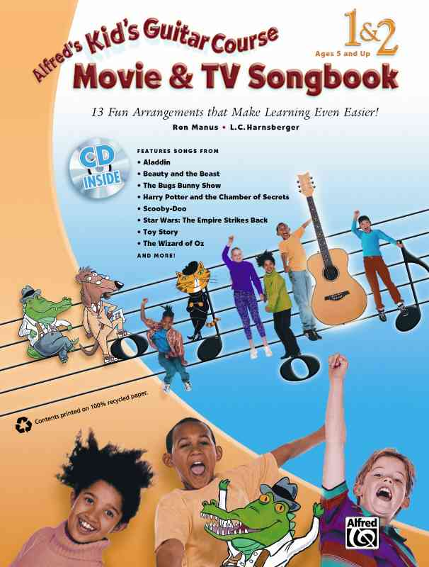 Alfred's Kid's Guitar Course Movie & TV Songbook 1 & 2 By Manus, Ron/ Harnsberger, L. C.